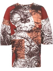 Homme Plisse Issey Miyake Printed Pleated T Shirt Multicolour