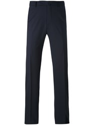 Ermenegildo Zegna Tailored Trousers Men Viscose Wool 54 Blue