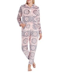 Kensie Floral Coverall Blush Snow