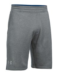 Under Armour Tech French Terry Athletic Shorts True Gray Heather