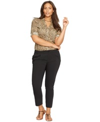 Lauren Ralph Lauren Plus Size Leopard Print Workshirt Multi