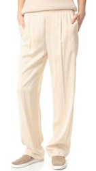 Vince Pleated Pull On Trousers Bleached
