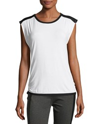 Blanc Noir Riot Sleeveless Tank Top White Black White Black