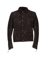 Just Cavalli Denim Outerwear Dark Brown