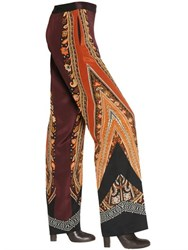 Etro Stretch Silk Crepe De Chine Pants