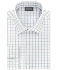 Kenneth Cole Reaction Men's Slim Fit Techni Stretch Performance Stream Check Dress Shirt