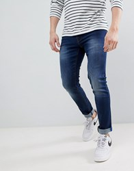Voi Jeans Skinny Fit In Mid Blue