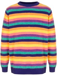 The Elder Statesman Inch Stripe Cashmere Sweater Multicolour