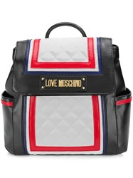 Love Moschino Contrast Frame Backpack Black
