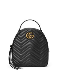Gucci Gg Marmont Quilted Leather Backpack Black