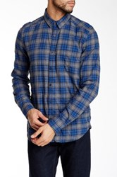 Gilded Age Long Sleeve Slim Fit Plaid Shirt Beige