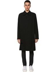 Givenchy Lined Wool Car Coat Black