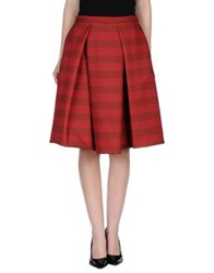 So Nice Knee Length Skirts Maroon