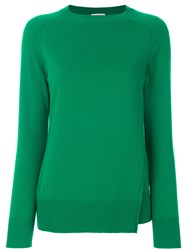 Tomas Maier Double Front Cashmere Sweater Cashmere Green