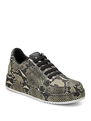 3.1 Phillip Lim Animal Printed Leather Sneakers Grey