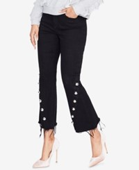 Rachel Roy Frayed Flare Leg Jeans Created For Macy's Rinse Wash