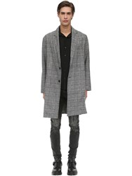 Other Plaid Wool And Cotton Overcoat Multicolor