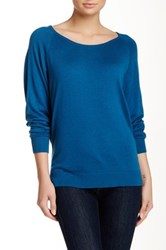 Splendid Scoop Neck Pullover Sweater Blue