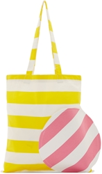 Jacquemus Ssense Exclusive Yellow And Pink Striped Tote