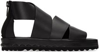 Diesel Black D Studz Cross Sandals