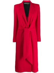 Roland Mouret Hollywell Coat Red