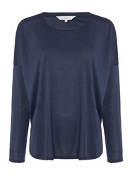 Part Two Round Neck Long Sleeve T Shirt Navy