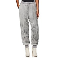 Undercover Pleated Velour Jogger Pants Gray