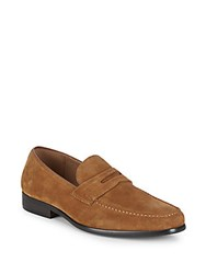 Saks Fifth Avenue Suede Loafers Tan