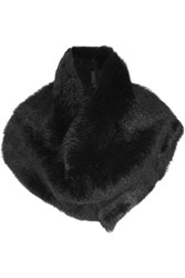 Donna Karan Shearling Snood Black
