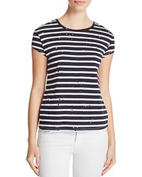 Generation Love Scarlett Stripe Destructed Tee Navy White