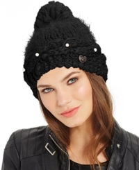 Betsey Johnson Pearly Girl Hat Black