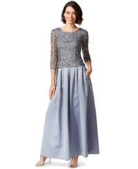 Patra Embellished Sequin Gown Pewter