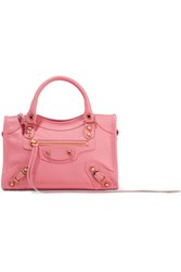 Balenciaga Classic City Mini Textured Leather Tote Pink