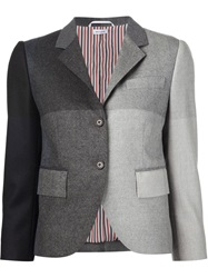 Thom Browne Patchwork Effect Blazer Grey