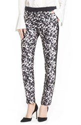 Women's Rachel Zoe 'Ange' Print Tuxedo Stripe Cigarette Pants