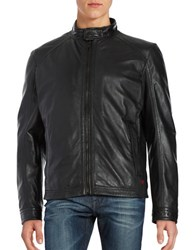 Strellson Nappa Lamb Leather Jacket Black