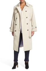 Plus Size Women's London Fog Double Breasted Trench Coat
