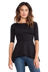 Susana Monaco Low Back Flare Top Black