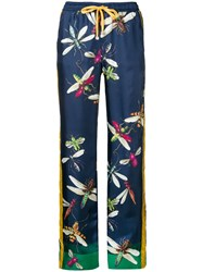 F.R.S For Restless Sleepers Printed Straight Leg Trousers Blue