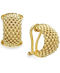 Macy's Mesh Hoop Earrings In 14K Gold Vermeil Over Sterling Silver