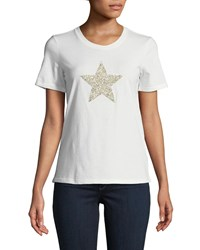 Romeo And Juliet Couture Star Studded Tee White