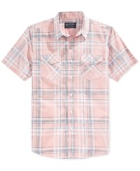 American Rag Men's Walsh Plaid Short Sleeve Shirt Only At Macy's Sunbaked Clay