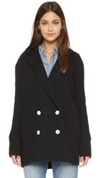 Madewell Charlie Sweater Coat True Black