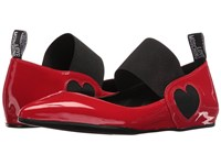 Love Moschino Ballerina Shoe W Strap Red
