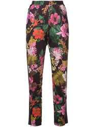 Moncler Floral Print Trousers Red