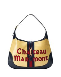 Gucci Jackie Maxi Chateau Marmont Hobo Bag Yellow Red