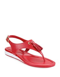 Cole Haan Rona Tasseled Sandals Red