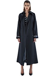 Preen Laureen Db Longline Coat Black