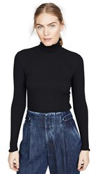 3X1 Ribbed Turtleneck Black