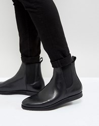 Zign Leather Wedge Chelsea Boots Black